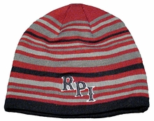 Top of the World Multicolored Knit Beanie with RPI and Rensselaer