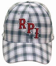 Top of the World Plaid Caddy Cap with RPI Front & Rensselaer Back