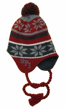 Top of the World Red & Gray Flap Hat with RPI