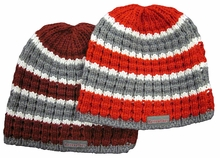 Top of the World Tricolored Knit Beanie with Rensselaer