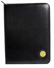 Zippered Pad Folio with School Seal