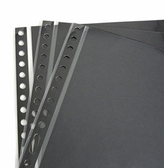 Pina Zangaro Archival Polypropylene Page Protectors with Black Liner