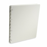 "Vista ""Snow"" Opaque White Acrylic Screwpost Portfolios"
