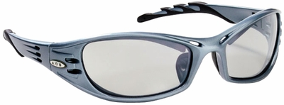 3M Fuel Safety Glasses with Blue Frame and Indoor-Outdoor Lens