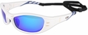 3M Fuel Safety Glasses with White Frame and Blue Mirror Lens
