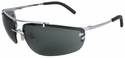 3M Metaliks Safety Glasses with Gray Anti-Fog Lens
