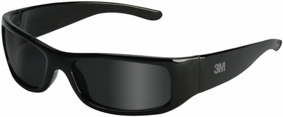 3M Moon Dawg Safety Glasses with Black Frame and Gray Anti-Fog Lens