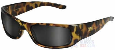 3M Moon Dawg Safety Glasses with Tortoise Frame and Gray Anti-Fog Lens