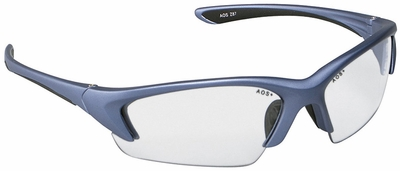 3M Nitrous Safety Glasses with Metallic Blue Frame and Clear Anti-Fog Lens
