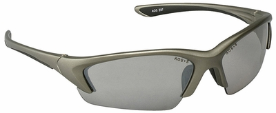 3M Nitrous Safety Glasses with Metallic Champagne Frame and Indoor-Outdoor Lens