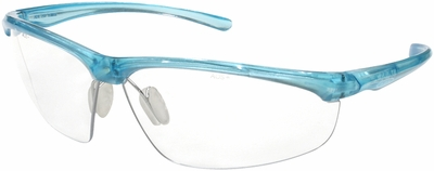 3M Refine 201 Safety Glasses with Teal Frame and Clear Anti-Fog Lens