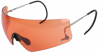 Beretta DSG Shooting Glasses with Cable Temples and Orange Lens