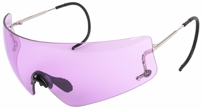 Beretta DSG Small Shooting Glasses with Cable Temples and Purple Lens