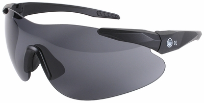 Beretta Shooting Glasses with Black SoftTouch Temples and Black Lens