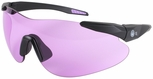 Beretta Shooting Glasses with Black SoftTouch Temples and Purple Lens
