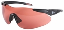 Beretta Shooting Glasses with Black SoftTouch Temples and Red Lens