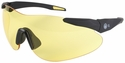 Beretta Shooting Glasses with Black SoftTouch Temples and Yellow Lens