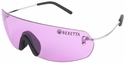 Beretta Youth Shooting Glasses with Wire Temple and Medium Purple Lens