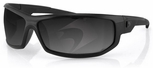 Bobster AXL Sunglasses with Black Frame and Smoke Anti-Fog Lenses