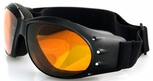 Bobster Cruiser Motorcycle Goggles with Black Frame and Amber Anti-Fog Lens