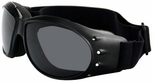 Bobster Cruiser Motorcycle Goggles with Black Frame and Anti-Fog Reflective Lens
