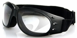 Bobster Cruiser Motorcycle Goggles with Black Frame and Clear Anti-Fog Lens