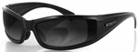 Bobster Defender Sunglasses with Black Frame and Polarized Smoke Lens