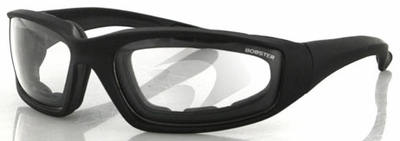 Bobster Foamerz 2 Glasses with Black Frame and Anti-Fog Clear Lens
