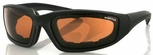 Bobster Foamerz 2 Sunglasses with Black Frame and Anti-Fog Amber Lens