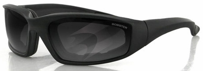 Bobster Foamerz 2 Sunglasses with Black Frame and Anti-Fog Smoke Lens