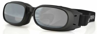 Bobster Piston Goggles with Black Frame and Smoke Reflective Lens