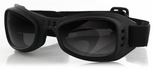 Bobster Road Runner Goggle with Black Frame and Smoked Lenses