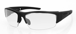 Bobster Ryval 2 Safety Glasses with Matte Black Frame and Clear Anti-Fog Lenses