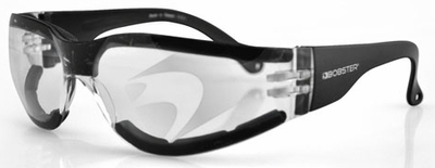Bobster Shield 3 Motorcycle Glasses with Anti-Fog Clear Lens