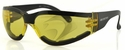 Bobster Shield 3 Motorcycle Sunglasses with Anti-Fog Yellow Lens