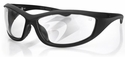 Bobster Zulu Ballistic Safety Glasses with Matte Black Frame and Clear Anti-Fog Lenses