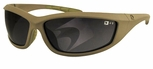 Bobster Zulu Ballistic Sunglasses with Coyote Tan Frame and Smoke Anti-Fog Lenses