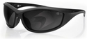 Bobster Zulu Ballistic Sunglasses with Matte Black Frame and Smoke Anti-Fog Lenses