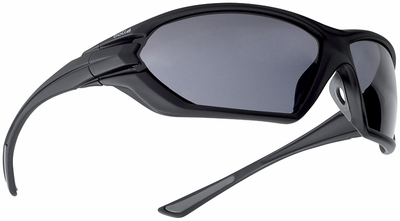 Bolle Assault Tactical Safety Glasses with Matte Black Frame and Smoke Anti-Fog Lens