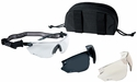 Bolle Combat Tactical Safety Glasses Kit with Anti-Fog Clear, ESP and Smoke Lenses