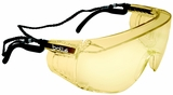 Bolle Override Safety Glasses with Black Temples and Yellow Anti-Scratch and Anti-Fog Lens