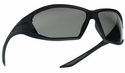 Bolle Ranger Tactical Safety Glasses with Shiny Black Frame and Smoke Anti-Fog Lens