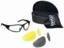 Bolle Rogue Tactical Safety Glasses Kit with Matte Black Frame and Anti-Fog Clear, Yellow and Smoke Lenses