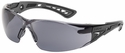 Bolle Rush+ Safety Glasses with Black/Gray Temples and Smoke AF Lens