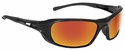 Bolle Shadow Safety Glasses with Shiny Black Frame and Red Mirror Lenses