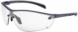 Bolle Silium Plus Safety Glasses with Graphite Colored Frame and Clear AF Lens