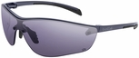 Bolle Silium Plus Safety Glasses with Graphite Colored Frame and Smoke AF Lens