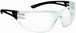 Bolle Slam Safety Glasses with Black Temple and Clear Anti-Scratch and Anti-Fog Lens