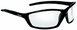 Bolle Solis Safety Glasses with Shiny Black Frame and Clear Anti-Scratch and Anti-Fog Lenses