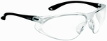 Bolle Spirit Safety Glasses with Matte Black Temples and Clear Anti-Scratch and Anti-Fog Lens